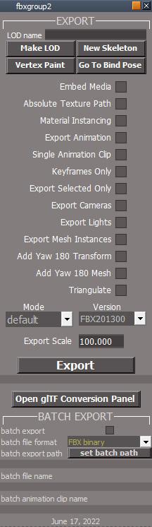 fbx import export